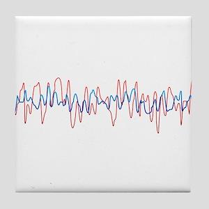 Sound Waves Tile Coaster