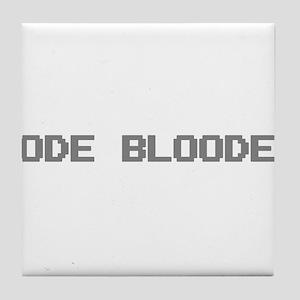 Code Blooded Tile Coaster