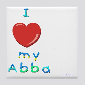 I love my abba Tile Coaster