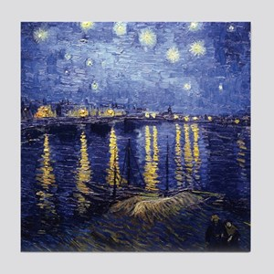 Starry Night Over the Rhone by Van Gogh Tile Coast