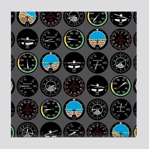 Flight Instruments Tile Coaster