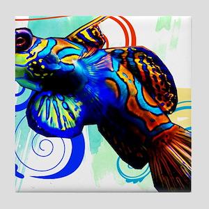 Mandarin Dragonet Tile Coaster