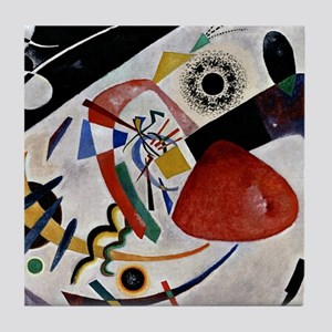 Kandinsky - Red Spot II Tile Coaster