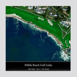 Pebble Beach 18th Hole Tile Coaster