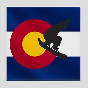 Colorado Snowboarding Tile Coaster