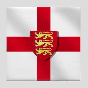 England Three Lions Flag Tile Coaster