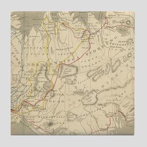 Vintage Map of Iceland (1819) Tile Coaster