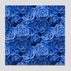 Blue Roses Tile Coaster