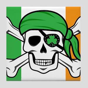 Irish Jolly Roger - Pirate Flag Tile Coaster