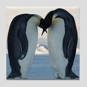 Emperor Penguin Courtship Tile Coaster