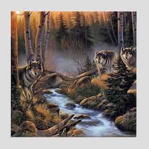 Forest Wolves Tile Coaster