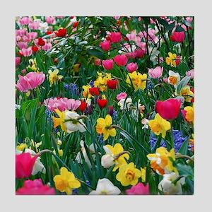 Flower Garden Tile Coaster