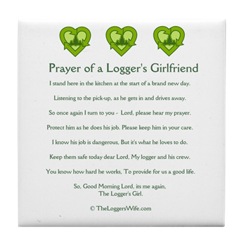 Prayer loggers girlfriend tile coaster prayer of a loggers prayer loggers girlfriend tile coaster altavistaventures Image collections