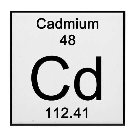 Periodic Table Cadmium Tile Coaster by Science_Lady ...