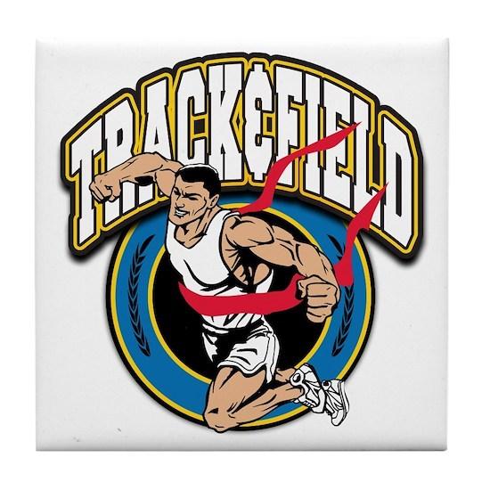 Track and Field Logo Tile Coaster by Mega Sports Fan ...