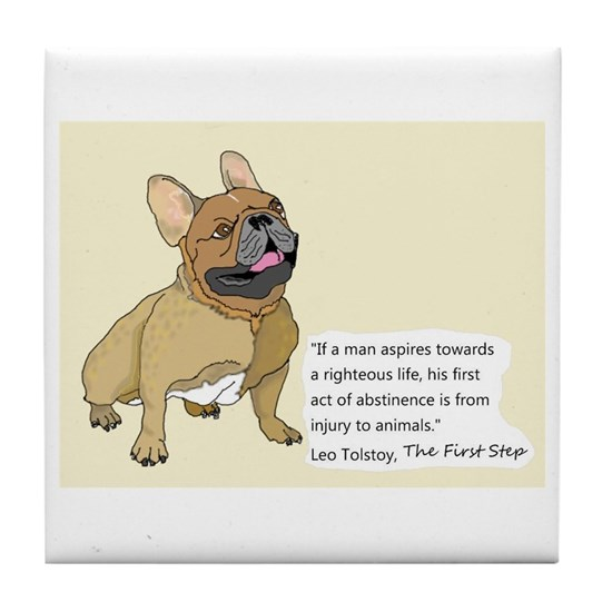 French Bulldog Quote Tile 2
