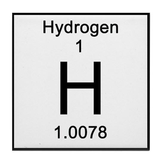 1 Hydrogen Tile Coaster