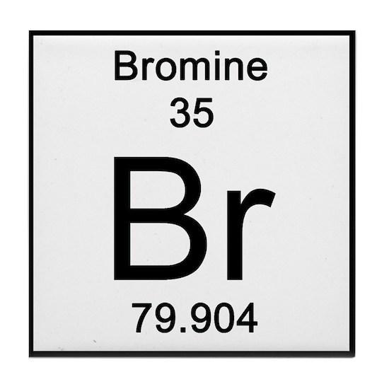 Periodic Table Bromine Tile Coaster