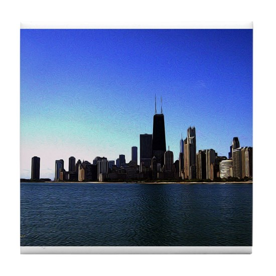 The Chicago Skyline in Feathered Art