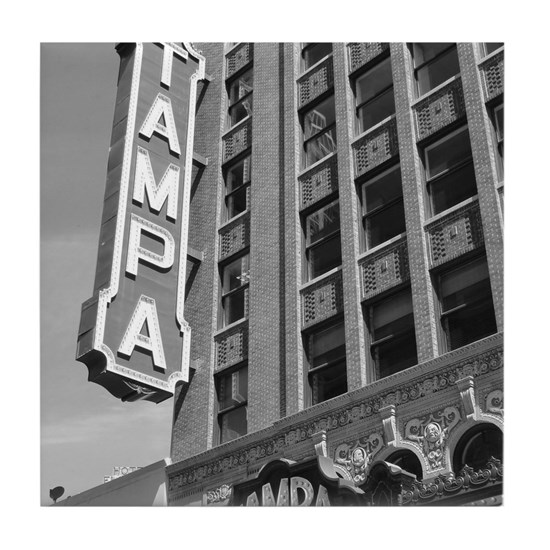 Tampa Theatre Florida Historic Theate Tile Coaster By ACR