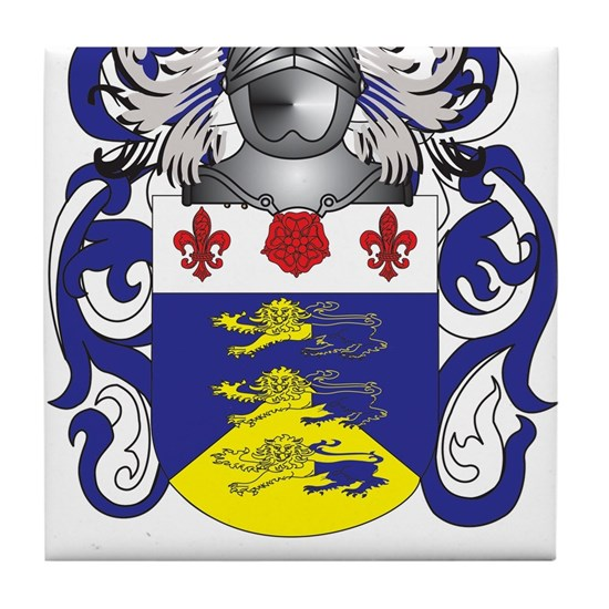 Gatling Coat of Arms (Family Crest) Tile Coaster