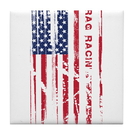 American Drag Racing Flag Patriotic Racer