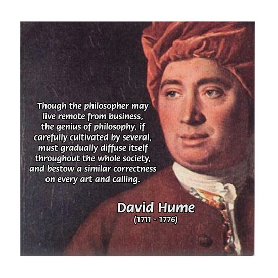 David Hume Philosophy Tile Coaster by Famous Art Science ...