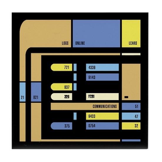 Voyager LCARS Tile Coaster