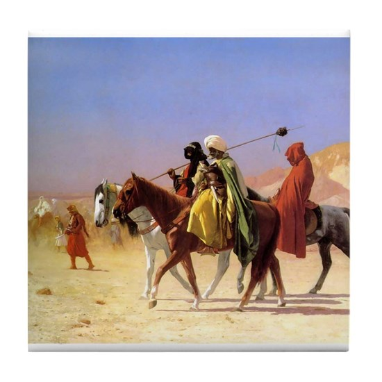 ARABS CROSSING THE DESERT, 1870
