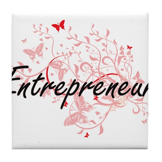 Entrepreneur Artistic Job Design with Butterflies