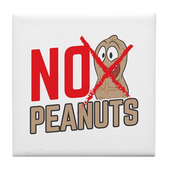 Nuts Allergy No peanuts Funny Birthday Gift