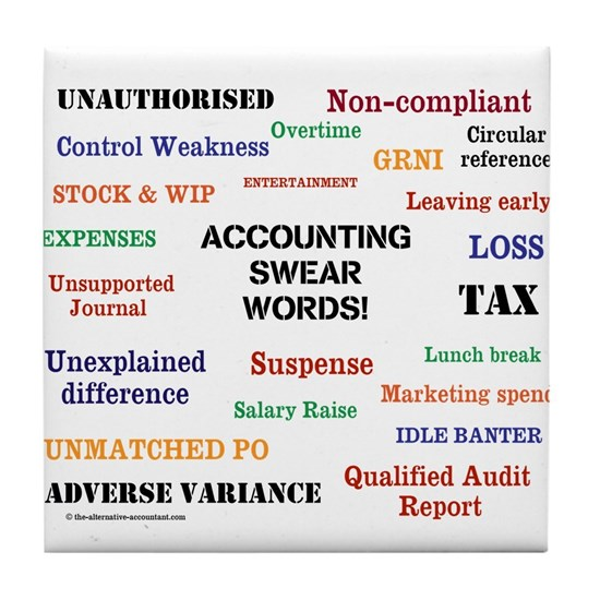 Accounting Swear Words