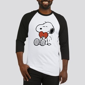 Snoopy Hugs Heart Baseball Tee