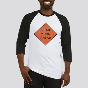 ROAD SIGN: Road Work Ahead Baseball Jersey