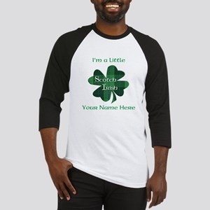 Green Plaid Scotch Irish Shamrock Baseball Jersey