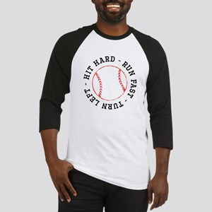 6a272aca Hit Hard Run Fast Turn Left Baseball Jersey