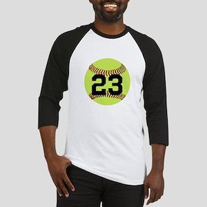 Softball Number Personalized Baseball Tee
