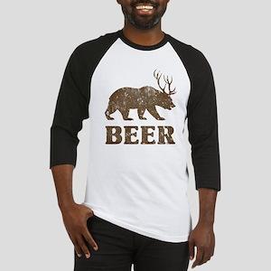 Bear+Deer=Beer Vintage Baseball Jersey