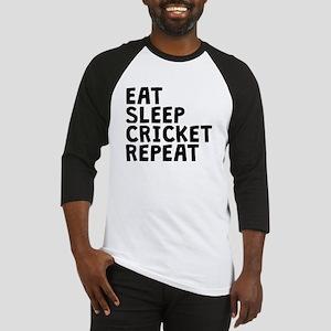 Eat Sleep Cricket Repeat Baseball Jersey