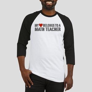 My Heart Math Teacher Baseball Jersey