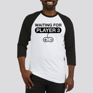 waiting for player 3 Baseball Jersey