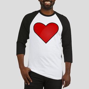 Red Heart Drawing Baseball Jersey