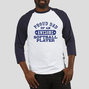 Proud Softball Dad Baseball Jersey