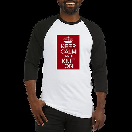 Customisable Keep Calm and Kn Baseball Jersey