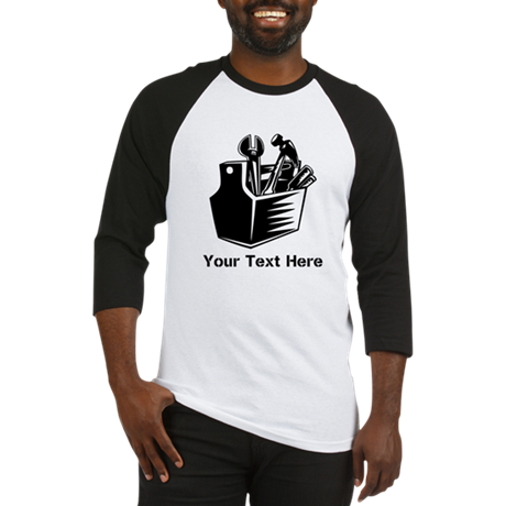 Tools with Text in Black. Baseball Jersey