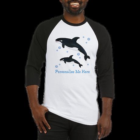 Personalized Killer Whale Baseball Jersey