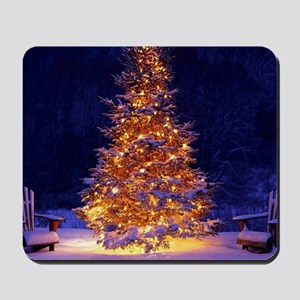 Christmas Tree With Lights Mousepad