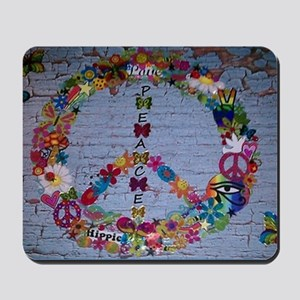 Girly Peace Sign Mousepad