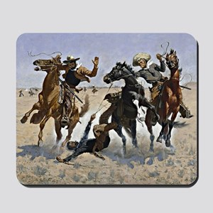 Remington cowboy art: Aiding a Comrade Mousepad