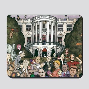 Us presidents at the white house Mousepad